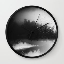 Fading Down Hidden Rain Drenched Paths Wall Clock