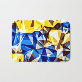 blue and yellow painting abstract background in panorama Bath Mat