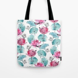 Waterlily buds Tote Bag
