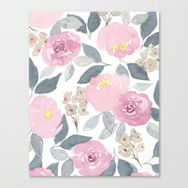 Flowers in Pink Canvas Print