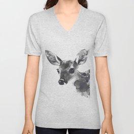 Watercolor Deer Unisex V-Neck