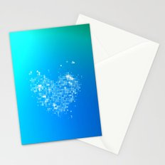 Heart2 Blue Stationery Cards