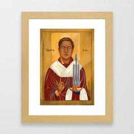 Holy Prophet Elon Musk Framed Art Print