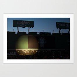Green Monster - PearlJam - Fenway Park - Boston Art Print