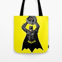 bombs away Tote Bags featuring Bombs Away by RAD Pencils