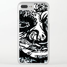 Face creature Clear iPhone Case