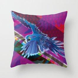 Arara-azul (Hyacinth Macaw) Throw Pillow