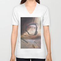 interstellar V-neck T-shirts featuring Interstellar by Itxaso Beistegui Illustrations