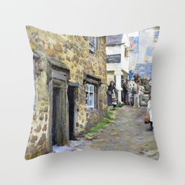 The Keigwin Arms, Mousehole - Stanhope Alexander Forbes Throw Pillow