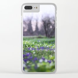 Late Winter Blooms Clear iPhone Case
