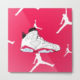 Jordan 6 White Infrared Metal Print