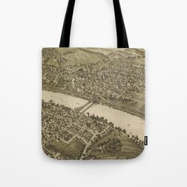 Vintage Pictorial Map of Fairmont WV (1897) Tote Bag