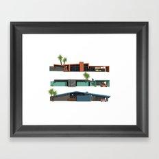 Original Mid Century Modern Houses Framed Art Print