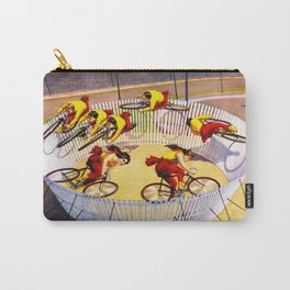 Vintage Bicycle Circus Act Carry-All Pouch