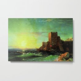 The Tower Classical Masterpiece by Ivan Constantinovich Aivazovsky Metal Print