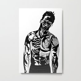 Inked Tattoo Guy Metal Print