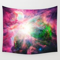 nebula Wall Tapestries featuring Orion NebuLA Colorful Purple by 2sweet4words Designs