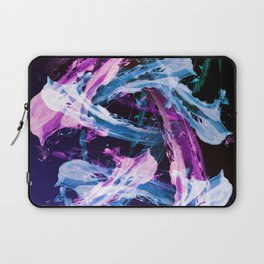 Blue and Magenta Abstract Wisps Laptop Sleeve