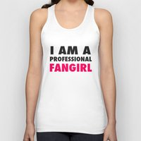 fangirl Tank Tops featuring Professional Fangirl by Stefanie Judith