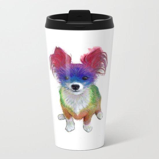 Small Dog Metal Travel Mug