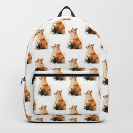 Red Fox Pattern Backpack