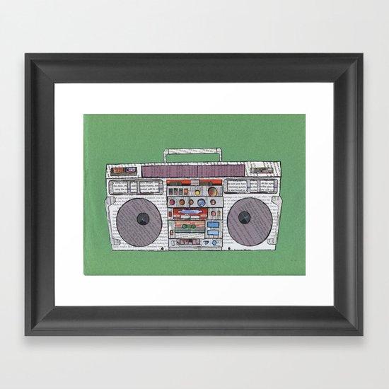paper jams Framed Art Print