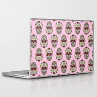sugar skull Laptop & iPad Skins featuring Sugar Skull by Jade Boylan
