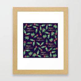 Christmas Holly Framed Art Print