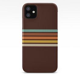Wanderlust Retro Stripes iPhone Case