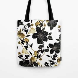 Black Azelea Tote Bag