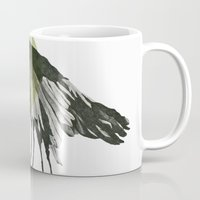 raven Mugs featuring raven by morgan kendall