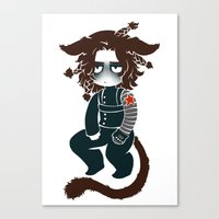 bucky Canvas Prints featuring bucky by cynamon