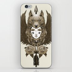 Native girl (light version) iPhone & iPod Skin