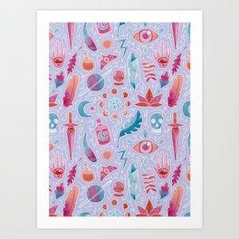 Magic watercolor Art Print