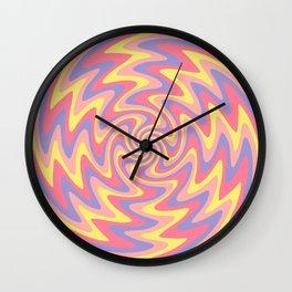 Abstract Retro swirl Pink pastel Wall Clock
