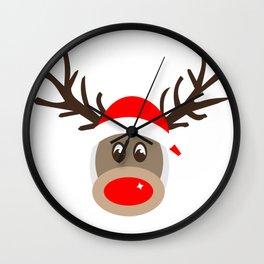 Rudolph Rednose Reindeer Wall Clock