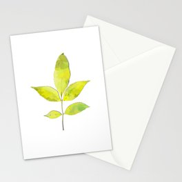 leaves painted with watercolor . designer paintings for eco-style . eco style interior . Sustainable Stationery Cards