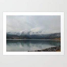 Barrier Lake in the Fog Art Print