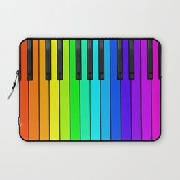 Rainbow Piano Keyboard  Laptop Sleeve