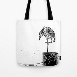 B&W Heron Tote Bag