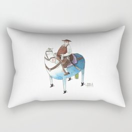 Numero 8 -Cosi che cavalcano Cose - Things that ride Things- SERIE ARGENTO - SILVER SERIES Rectangular Pillow