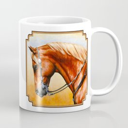 Western Sorrel Quarter Horse Coffee Mug