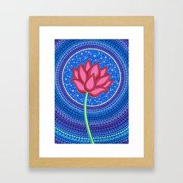 Rainbow Flower of Life Framed Art Print