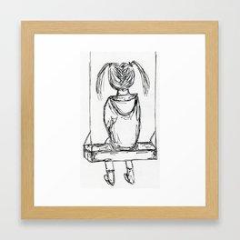 girl on a swing Framed Art Print
