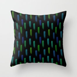 Neon Blue and Green Pattern Throw Pillow