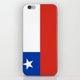 flag of Chile- -Spanish,Chile,chilean,chileno,chilena,Santiago,Valparaiso,Andes,Neruda. iPhone Skin