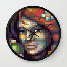 RPG Char Face - Food Shop  - Pixel Art Wall Clock
