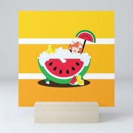 Watermelon Bath Mini Art Print