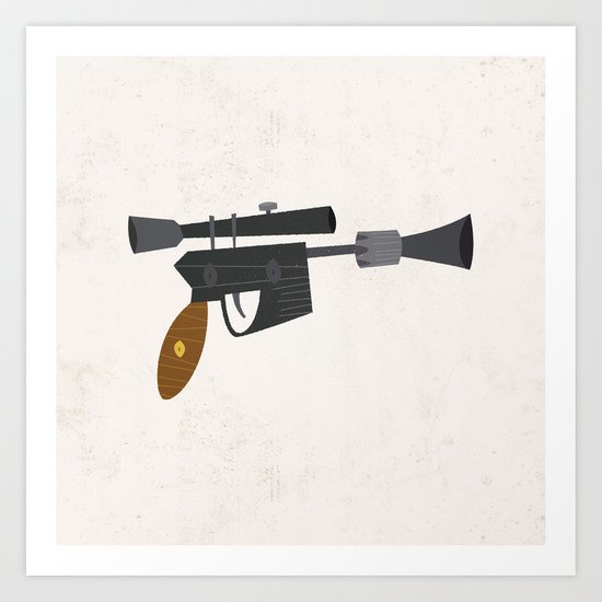 DL-44 Heavy Blaster Pistol Art Print