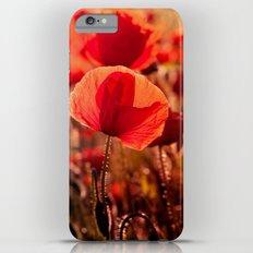 Fiery poppy field - Red Poppies Flowers iPhone 6 Plus Slim Case